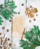 het kader van de Kerstmisdecoratie Royalty-vrije Stock Foto's