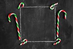 Het kader van de Kerstmissneeuw Stock Afbeelding