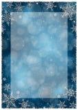 Het Kader van de Kerstmiswinter - Illustratie Donkerblauwe Kerstmis - Leeg Kaderportret Royalty-vrije Stock Foto
