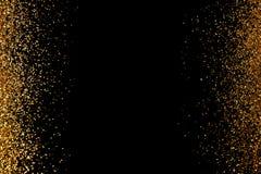 Het kader van goud wordt gemaakt schittert op zwarte achtergrond, hoogste mening die stock illustratie