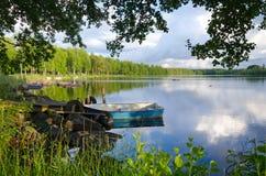 Het kader van het de zomermeer Stock Afbeeldingen