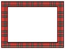 Het kader van het geruit Schots wollen stofdekbed Stock Afbeeldingen