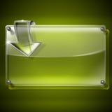 Het Kader van het glas met pijl Stock Afbeeldingen