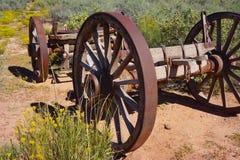 Het kader van het ijzerwiel van wagen royalty-vrije stock foto