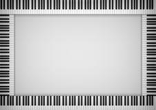 Het Kader van het pianotoetsenbord vector illustratie