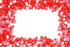 Het kader van het valentijnskaartensuikergoed Royalty-vrije Stock Afbeeldingen