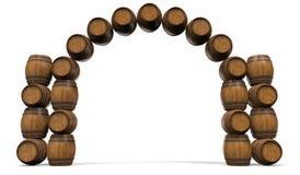Het kader is van houten vaten Royalty-vrije Stock Fotografie