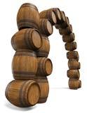Het kader is van houten vaten Stock Afbeeldingen