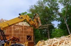 Het kader van het huishout voor een het vorderen huis een nieuwe ontwikkelingshout royalty-vrije stock fotografie