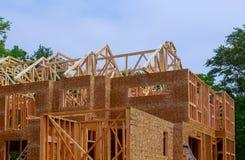 Het kader van het huishout voor een het vorderen huis een nieuwe ontwikkelingshout stock fotografie