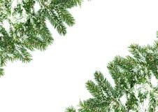 Het kader van Kerstmis met sneeuw Royalty-vrije Stock Fotografie