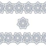 Het kader van krabbelboho in zwart-wit Vector illustratie Stock Foto