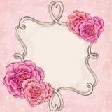 Het kader van rozen Stock Afbeeldingen