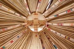 Het kader van Yurt Royalty-vrije Stock Foto's