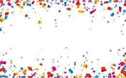 Het kaderachtergrond van de confettienviering Stock Foto's