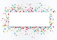 Het kaderachtergrond van de confettienviering stock illustratie
