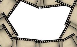 Het kaderachtergrond van de filmstrook Stock Foto