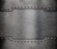 Het kaderachtergrond van de metaalpantserplaat Stock Foto