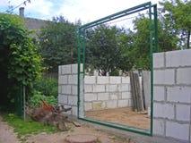 Het kadergarage van de blinddeur stock afbeelding