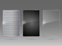 Het kaderreeks van het glas en van het metaal. Vector. Stock Foto's