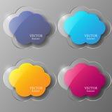 Het kaderreeks van het glas Vector illustratie Stock Afbeeldingen