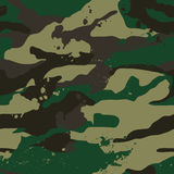 Het kaki patroon van de wilderniscamouflage. Royalty-vrije Stock Foto's