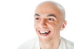 Het kale mens glimlachen Royalty-vrije Stock Afbeeldingen