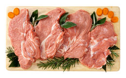 Het kalfsvlees van plakken Royalty-vrije Stock Foto's