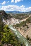Het kalkspaat springt, mening van de rivier op royalty-vrije stock afbeeldingen