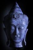 Het kalme koele blauwe hoofd van Boedha Stock Foto
