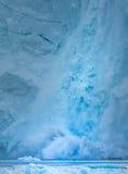 Het kalven Eqi gletsjer, Disko-Baai, Groenland stock afbeeldingen