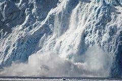 Het Kalven van de gletsjer Royalty-vrije Stock Afbeelding