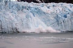 Het Kalven van de Gletsjer van Alaska Stock Foto
