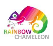 Het kameleon van de regenboog. Stock Afbeelding