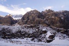 Het Kamp Duidelijke Dag van de Annapurnabasis Stock Afbeeldingen