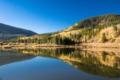 Het kamp sleept dichtbij Ski Cooper Water Reflection royalty-vrije stock fotografie