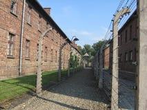 Het Kamp van Auschwitz Stock Afbeeldingen