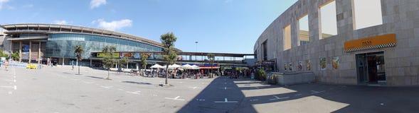 Het kamp van Barcelona Nou buiten panorama Stock Foto's