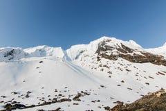 Het kamp van de Annapurnabasis stock afbeeldingen