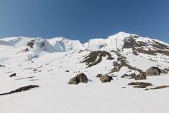 Het kamp van de Annapurnabasis royalty-vrije stock foto