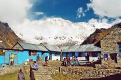 Het Kamp van de Basis van Annapurna, Nepal royalty-vrije stock foto's