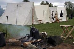 Het kamp van de Burgeroorlog Royalty-vrije Stock Afbeeldingen