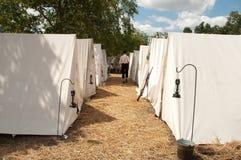 Het kamp van de Burgeroorlog Stock Foto's