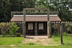 Het Kamp van de Burgeroorlog POW van de Doorwaadbare plaats van het kamp. Stock Foto's