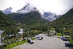 Het kamp van de de berggletsjer van het noorden Stock Afbeeldingen