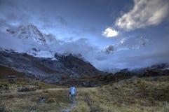 Het kamp van de het heiligdomsbasis van Annapurna Stock Foto's