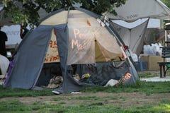 Het kamp van de Occupy beweging in Washington Stock Fotografie