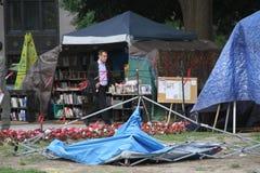 Het kamp van de Occupy beweging in Washington Stock Foto