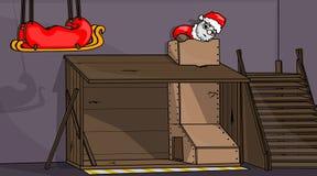 Het Kamp van de Opleiding van de kerstman Royalty-vrije Stock Afbeeldingen