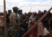 Het Kamp van de Vluchteling van de Honger van Somalië stock afbeelding